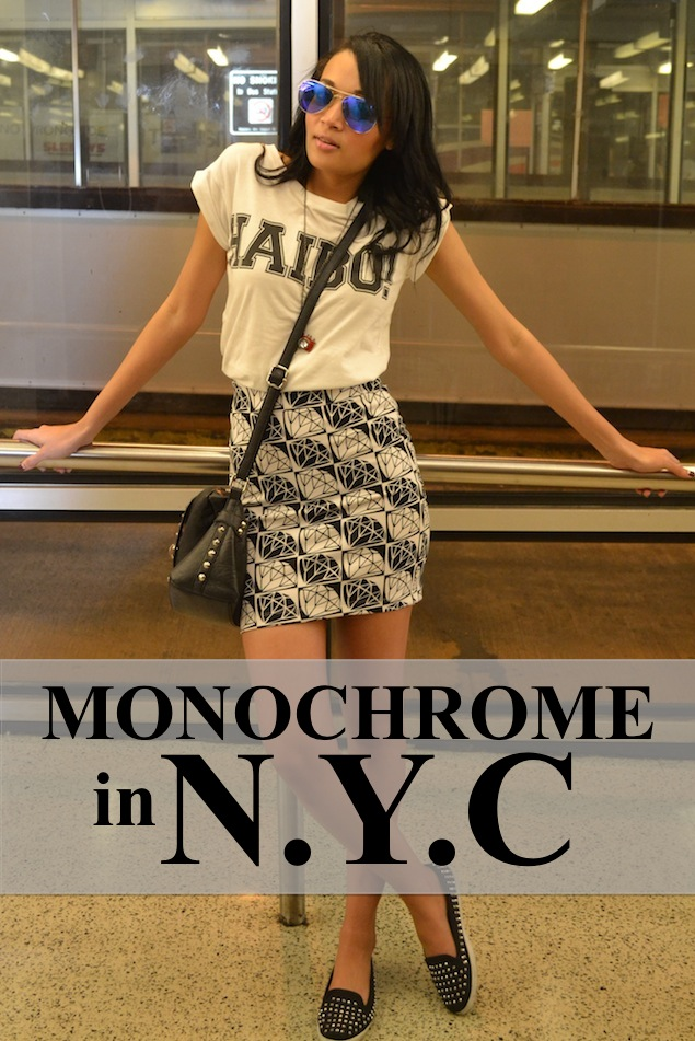 Monochrome in NYC {OOTD}
