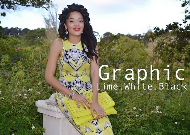 GRAPHIC Lime.White.Black Print {OOTD} CT Day 3