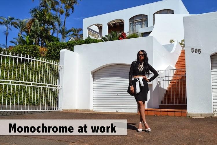 Pencil Skirt for Work {Monochrome Monday OOTD}