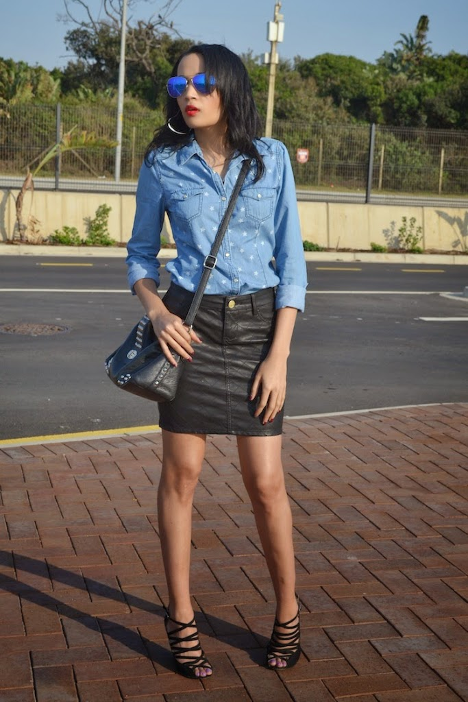 c15bf8d2c6 Denim   Quilted faux leather  ThrowBack Thursday OOTD  - Brett Robson
