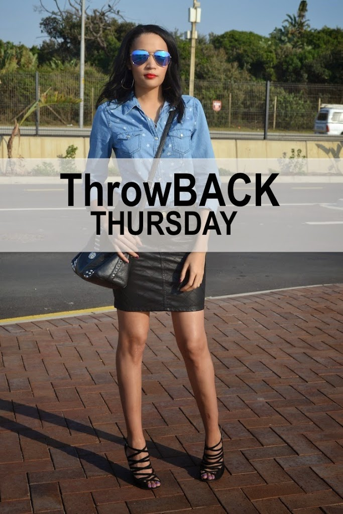 Denim & Quilted faux leather {ThrowBack Thursday OOTD}