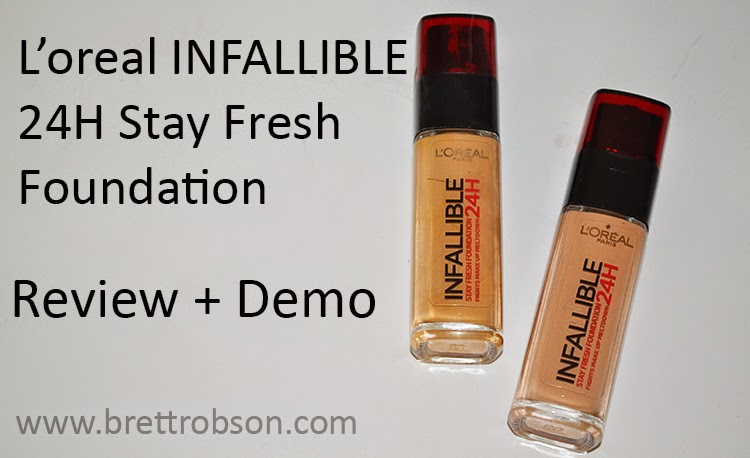 L'oreal Infallible 24H Stay Fresh Foundation {Review + Demo}