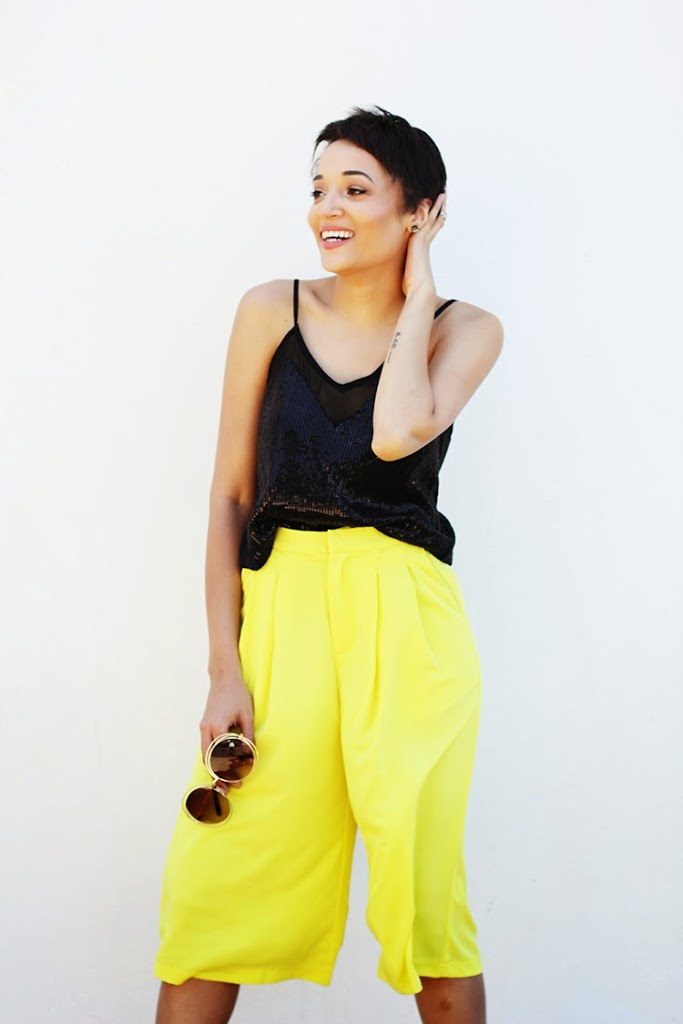 Yellow Culottes {OOTD} + Life Update