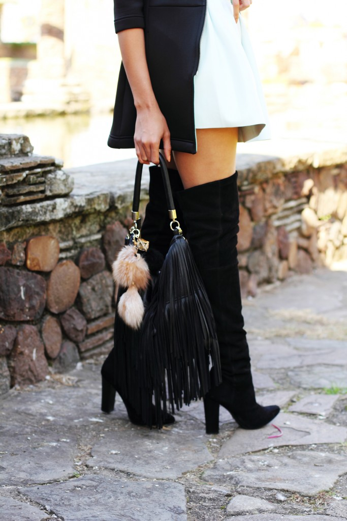 Fashion blogger thigh high boots style 7