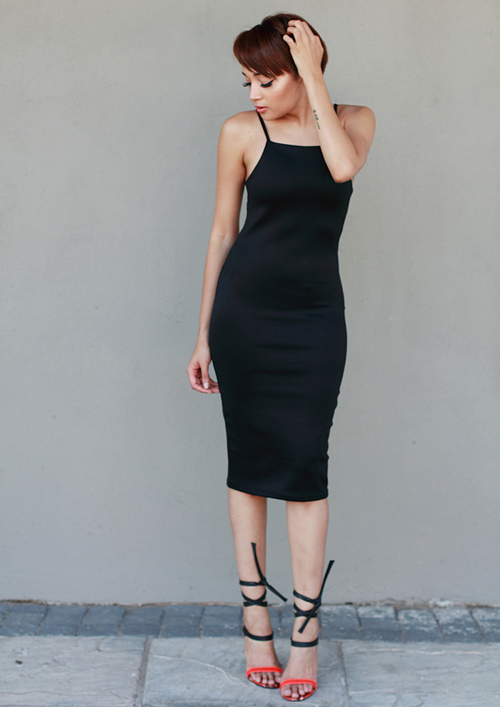 Black Dress CC6536B 3