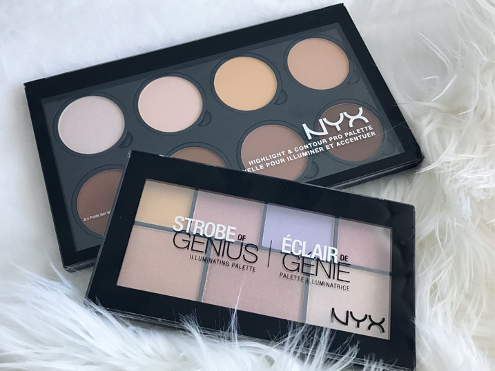 NYX First Impressions | Highlight & Contour PRO Palette + Strobe of Genius Illuminating Palette