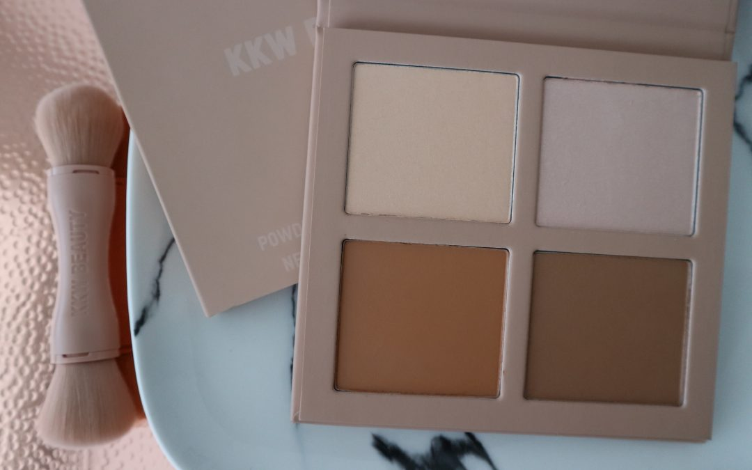 KKW BEAUTY POWDER CONTOUR & HIGHLIGHT KIT REVIEW | BEAUTY