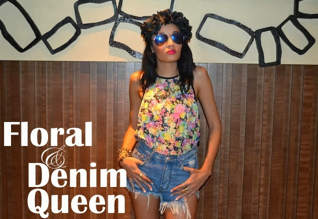 Floral & Denim Queen {OOTD}