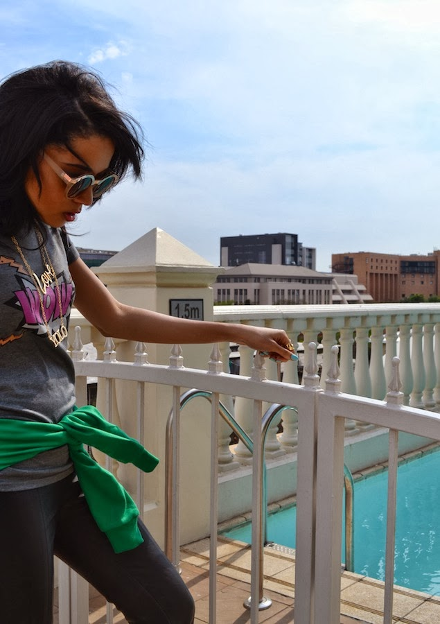 Casual Leatherette {OOTD} Jhb Day 3
