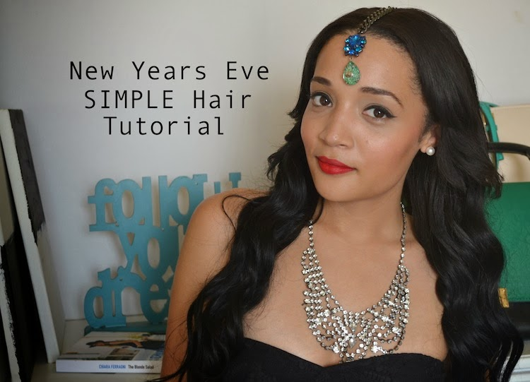 SIMPLE Curl Hair Tutorial for New Years Eve