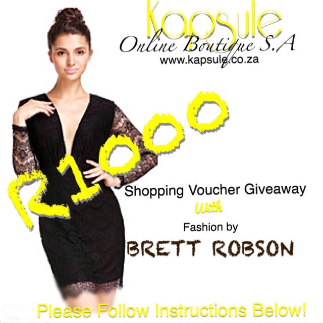 GIVEAWAY with Kapsule Online Boutique SA