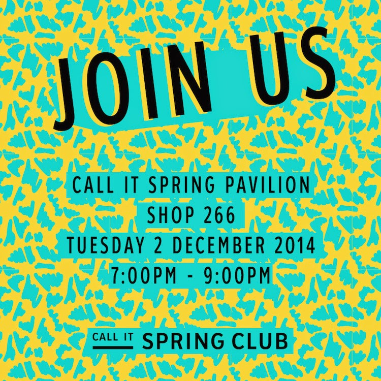 #CALLITSPRINGCLUB Event – You're Invited!