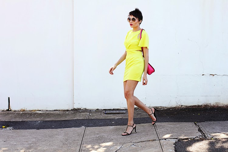 Yellow Dress Pink Bag {OOTD}