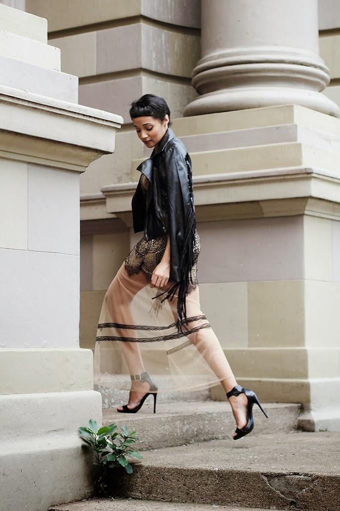 Fringe Jacket + Lace Dress {OOTD}